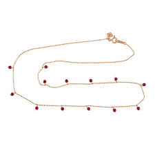 1.16ct Genuine Ruby Necklace Pendant 18K Rose Gold Women's Gift Jewelry
