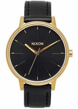 NEW Nixon Damenuhr A108-513 Kensington Leather Gold Black Uhr Vintage-Look