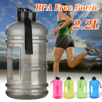 Large 2.2L Sports Training Gym Water Drinking Bottle Camping Caps Kettle BP