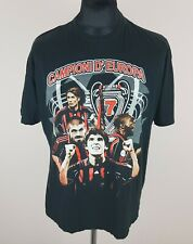 AC Milan Campioni d'Europa 2007 T-Shirt Men's Size M US BASIC Black Fan Jersey