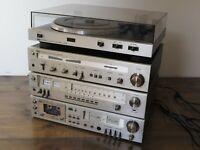 ITT Schaub-Lorenz - HiFi 80 - Cassette deck, Stereo amplifier, Tuner, Turntable