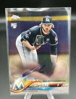 2018 TOPPS CHROME AUTOGRAPH AUTO DILLON PETERS RC MARLINS ROOKIE CARD