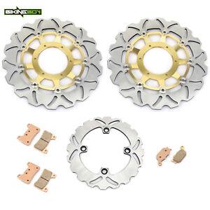 For Honda CBR600RR 2005 2006 Front Rear Brake Rotors Discs Pads CBR1000RR 04 05