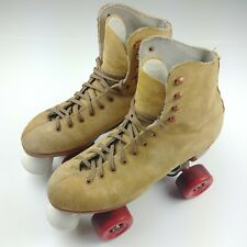 Sure Grip Vintage Roller Skates Suede Leather Super-X-4 Sz 6 Women Canadian Made