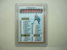 1966/67 TOPPS NHL HOCKEY CARD #120 SECOND CHECKLIST EX/NM MK SHARP!! 66/67 TOPPS