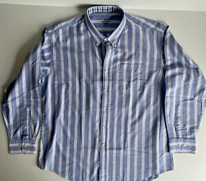 THE SAVILE ROW COMPANY  Mens XXL Long Sleeved Striped Shirt. Excellent Condition