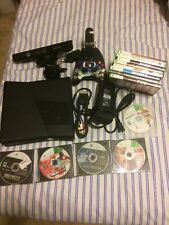 Xbox 360 Slim with Kinect and Games WORKS GREAT