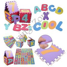Baby Soft Foam Alphabet Number Mats Interlocking Kids Play Floor Tiles Puzzle