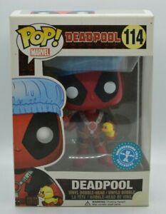 Funko Pop! Vinyl Marvel Deadpool Bath Time #114 Underground Toys Exclusive W/Pro