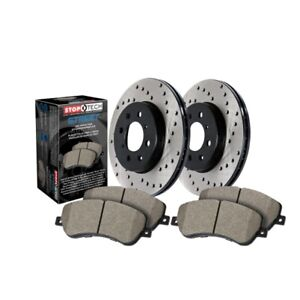StopTech 939.47501 Street Axle Pack, Drilled, Brake Kit For 05-06 Saab 9-2X NEW