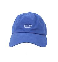 Vineyard Vines Whale Logo Spell Out USA Flag Adjustable Cotton Dad Hat Cap Blue