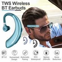 Wireless Earbuds Bluetooth 5.0 Headphone Driving Handsfree Ear-hook Earphone Mic