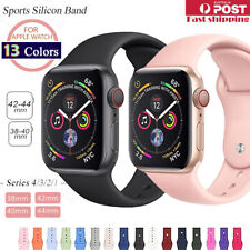 Sports Silicone Bracelet wrist band F Apple Watch Series 6 5 4 3 2-38 40 42 44mm