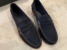 Allen Edmonds Sea Island Navy Suede Penny Loafer Size 8.5 US Men