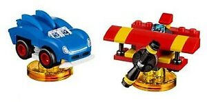 NO SONIC MINIFIGURE / TOY TAGS LEGO Dimensions 71244 Level Pack PLANE & CAR ONLY