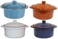 400ml Soup Bowls With Handles & Lids Casserole Oven Microwave Safe Dish Washer