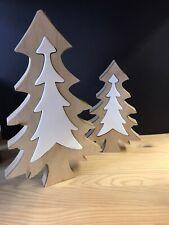 Holz Keramik Baum Weihnachtsdeko Holzdeko Tischdeko Weihnachten Deko
