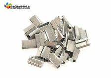 1000 X 12mm Metal Hand Pallet Strapping Banding Seal Clips