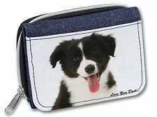 Border Collie Pup 'Love You Dad' Girls/Ladies Denim Purse Wallet Chris, DAD-17JW