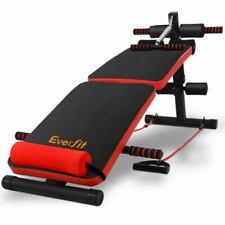 Everfit Adjustable Sit Up Bench - Black/Red (FIT-J-SITUP-BENCH-C2)