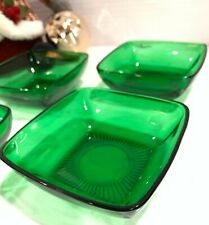 """Vintage Forest Green Candy or Soup 4"""" bowl"""