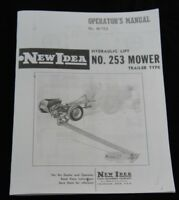 New Idea No. 253 Hydraulic Lift Trailer Type Sickle Hay Mower Owner's Manual NI