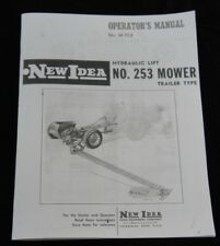 New Idea No 253 Hydraulic Lift Trailer Type Sickle Hay Mower Owners Manual Ni