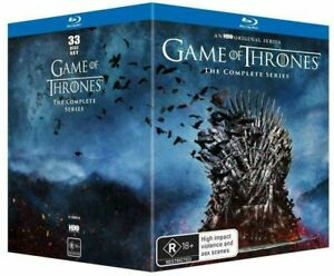 Game of Thrones Complete Series Collection Season 1-8 Sealed Blu Ray Box Set