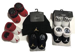 NEW AIR Jordan 6Pc ASSORTMENT Set: 5 Pairs of Booties & 1 Hat. 0-6 Months Unisex