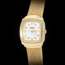 Damiani 18K YG Ego Carre Ladies' Watch with Original VVS Diamonds. 18K YG Buckle