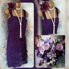 Purple layered tiered sangria designer 20s gatsby party wedding dress 12.