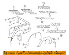 TOYOTA OEM 05-15 Tacoma Pick Up Box Bed-Lower Molding Right 7563104020