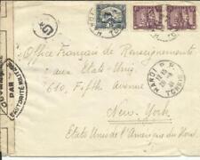 Indo China Sc#160,#154(pair)HANOI 20/3/41-WWII CENSOR TAPE-Control