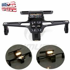 Motorcycle License Plate Holder LED Tail Light Fender Eliminator Kit For Honda