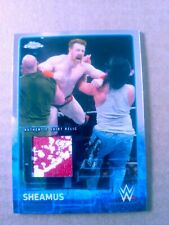 WWE Sheamus 2015 Topps Chrome Event Used Shirt Relic Card red & white