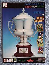 1994-COPPA ANGLO ITALIANA programma finale-BRESCIA V Notts County