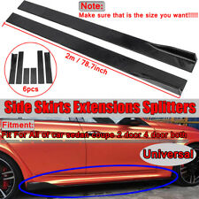 78.7'' Universal Side Skirt Extensions Rocker Panel Splitters Lip Polypropylene