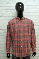 Camicia HENRY COTTONS Uomo Taglia XL Maglia Shirt Man Cotone Manica Lunga Quadri