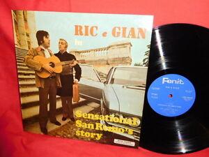 RIC e GIAN Sensational San Remo's story LP 1970 ITALY MINT-