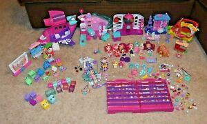 Huge Shopkins Shoppie Dolls, Pets, Playsets, Figures, Accessories Lot EUC