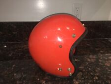 Vintage BUCO Tomato Red / Orange Motorcycle Helmet L / XL