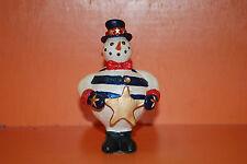 Avery Attitude Nodder Figurines Patriotic Snowman