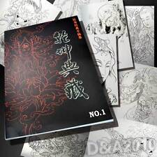 "A3 11""x 16"" Chinese Ancients Figure Flash Tattoo Manuscripts design book sketch"