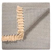 Fair Trade Large Diamond Grey Cotton Woven Sofa Settee Bedspread Blanket Throw