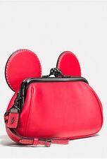 NWT Coach x Disney Ltd Edition Mickey Mouse Red Kisslock Wristlet Clutch 65794