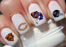 Chicago Bears Nail Art Stickers Transfers Decals Set of 50