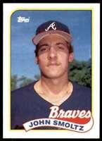 1989 Topps Set Break John Smoltz Rookie Atlanta Braves #382