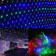 Lichternetz LED Lichtervorhang Au�Ÿenlichterkette Garten Schneefall Beleuchtung