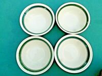 Salad & Soup Bowls with Green Rings  Set of 4