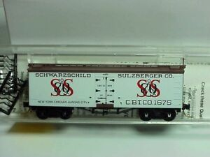 ~ MTL- 58020 ~ SCHWARZCHILD & SULZBERGER ~ 36' WOOD SHEATHED ICE REEFER ~